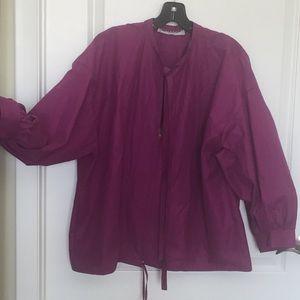 Yves Saint Laurent Vintage Purple Zipper Jacket